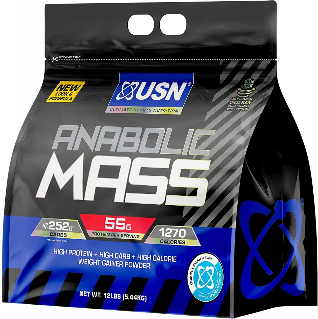 Anabolic USN Mass, Weight Gainer Cookies & Nutrition Cream